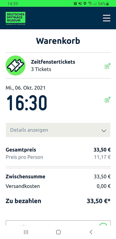Onlineshop für Tickets & Merchandise Deutsches Spionagemuseum Berlin 1