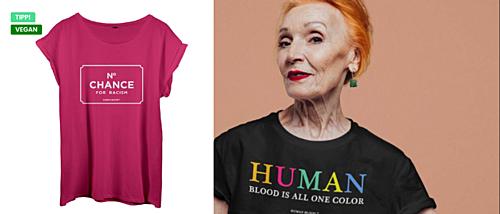 Oh mein Gott, krass! Der Shop mit politischer Meinung und veganer Kleidung. #cool