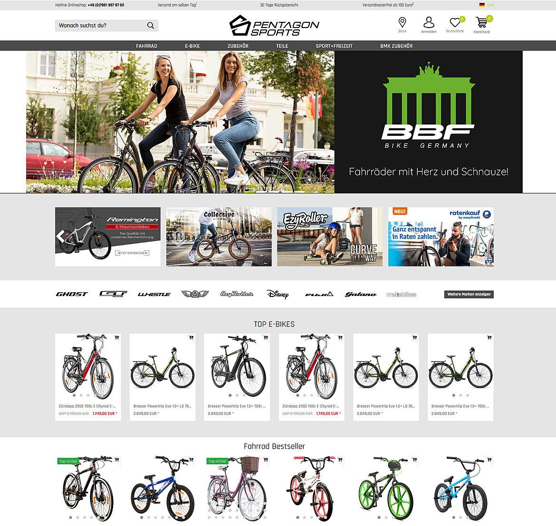 Pentagon Sports Online Shop 2