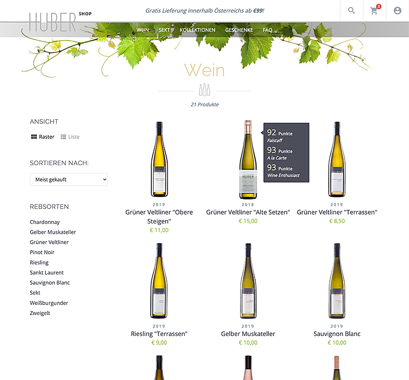 Weingut Markus Huber Shop 3