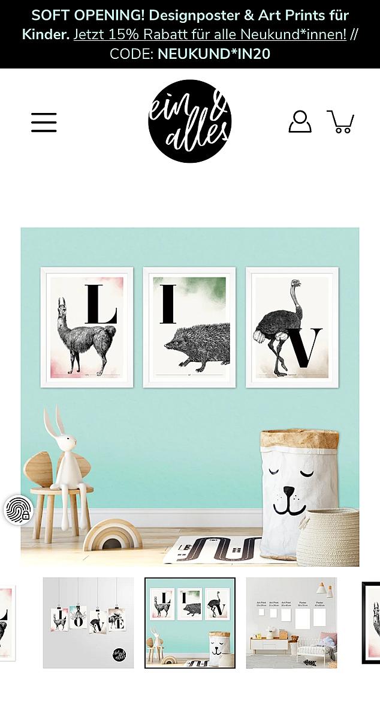 ein & alles Designposter 3