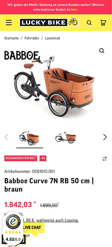 Lucky-Bike Onlineshop 3