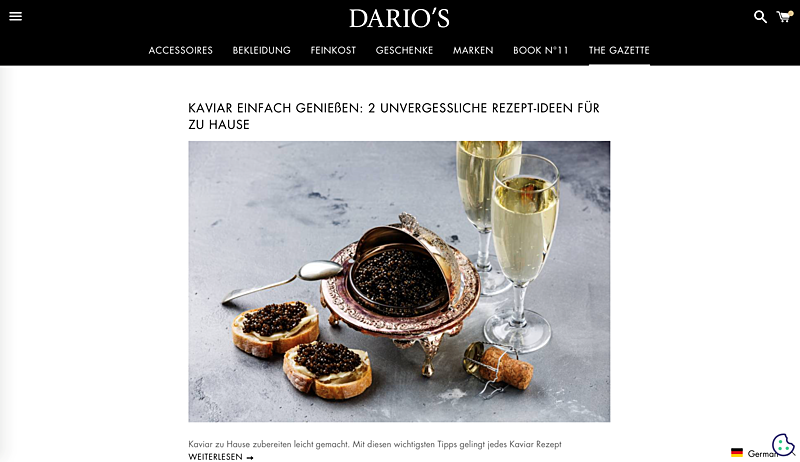 DARIO'S e-Boutique: Germany's Online Luxury Goods Retailer 2