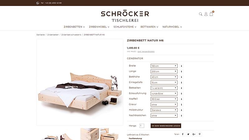 Tischlerei Schröcker - Designe deine Zirbenmöbel 3