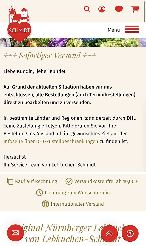Lebkuchen Schmidt 1