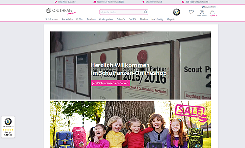 Schulranzen-Onlineshop.de - Southbag - Schulranzen, Rucksäcke, Koffer und mehr