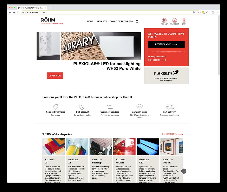 PLEXIGLAS® B2B Onlineshop für Händler und Verarbeiter  1