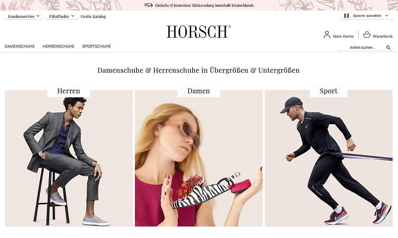 Horsch - Damenschuhe & Herrenschuhe in Übergrößen & Untergrößen 1