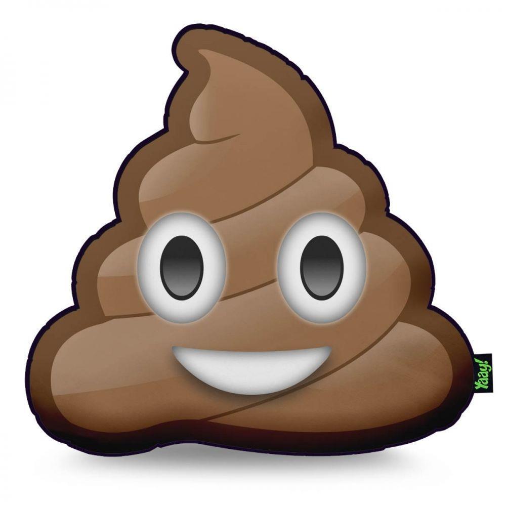 Almofada Emoji Cocozinho Poop - 40 x 40 cm