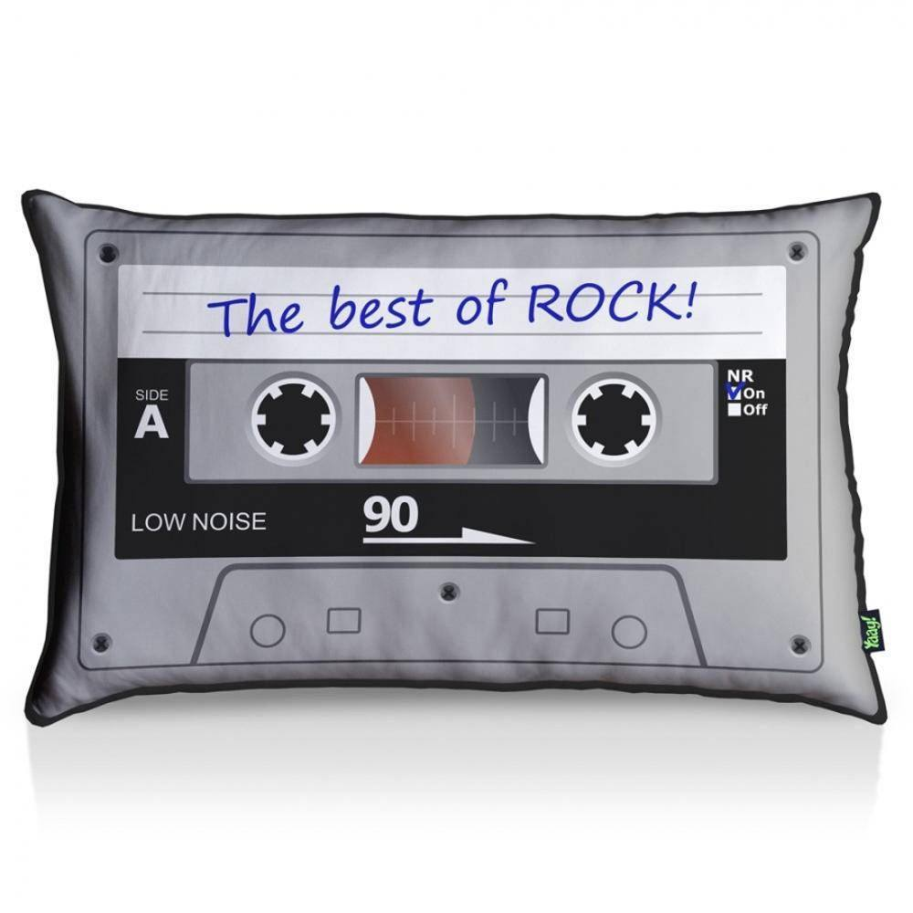 Almofada Fita Cassete Best Of Rock - 35 x 55 cm