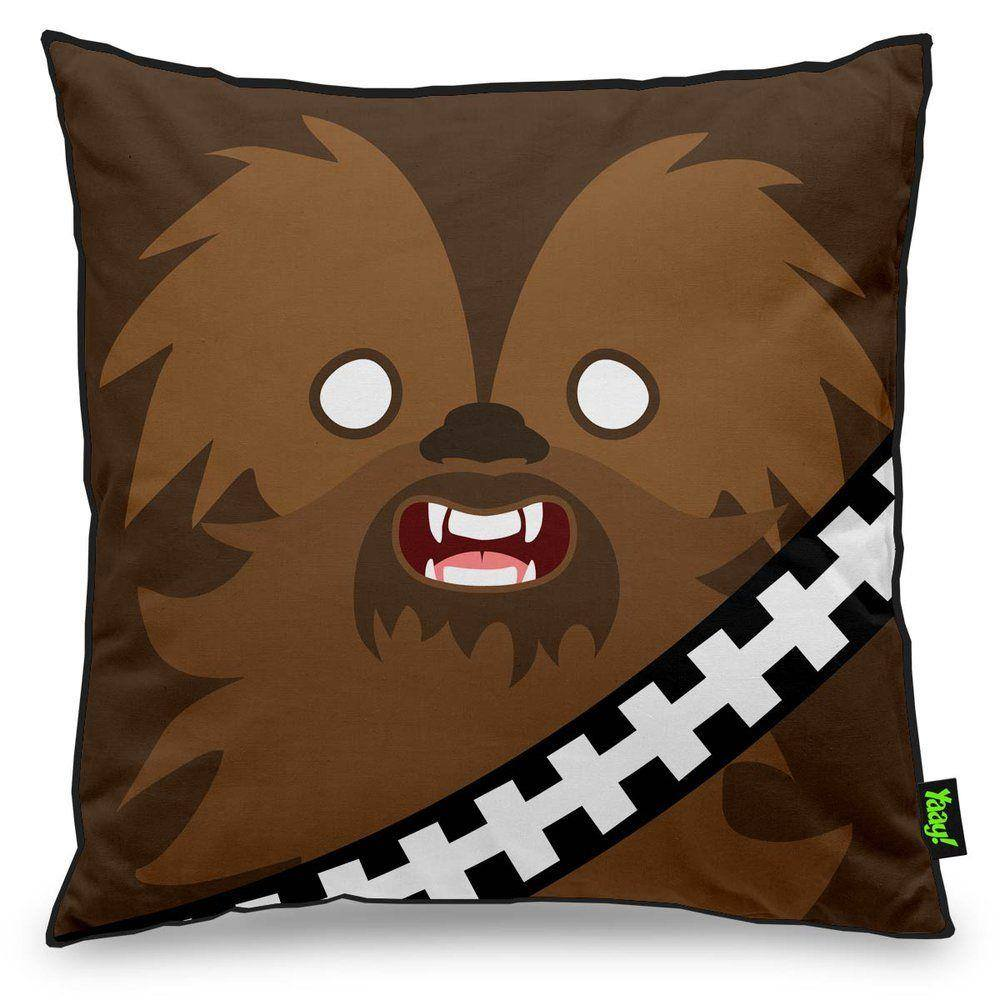 Almofada Geek Side Faces - Chill Bacca - 40 x 40 cm