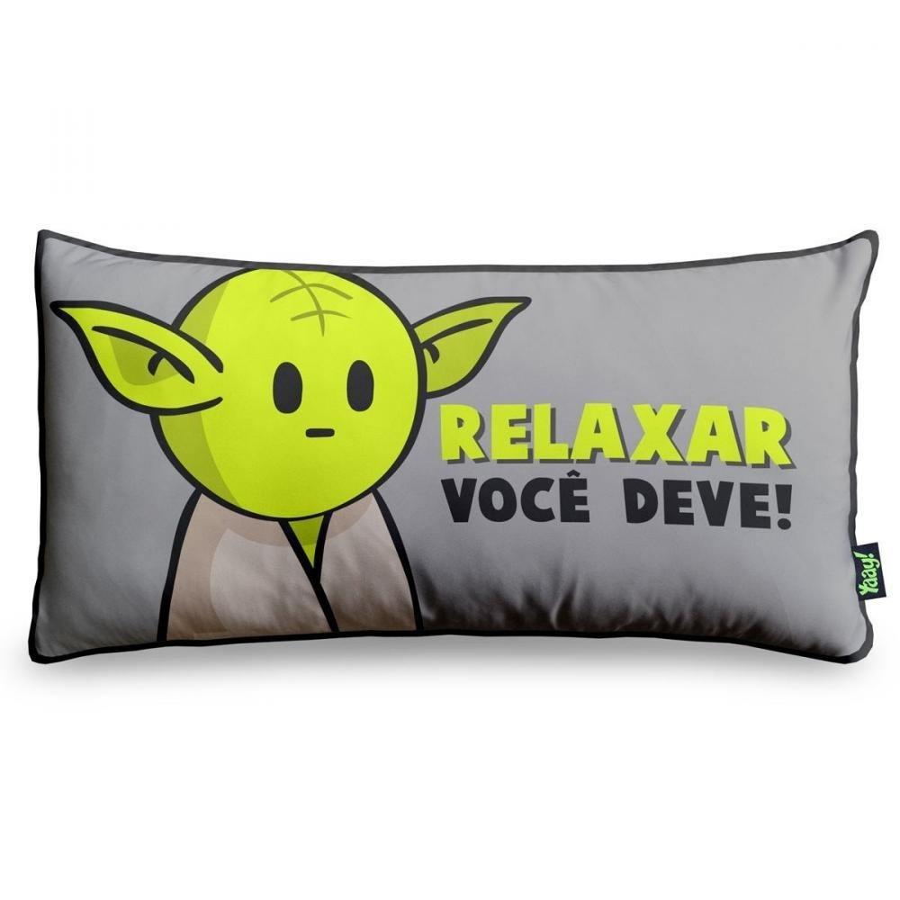 Almofada Relaxar Você Deve - 36 x 18 cm