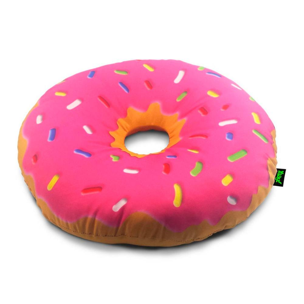 Almofada Rosquinha Donut Morango - 40 x 40 cm