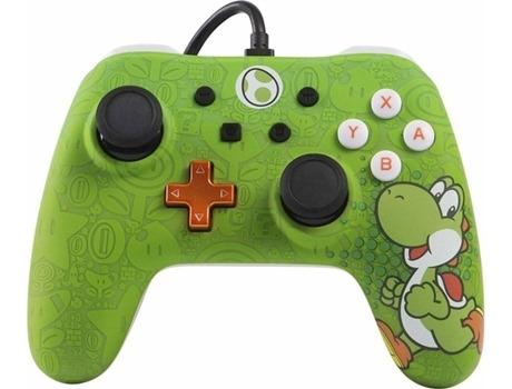 Controle Nintendo Switch com fio Iconic Yoshi Powera