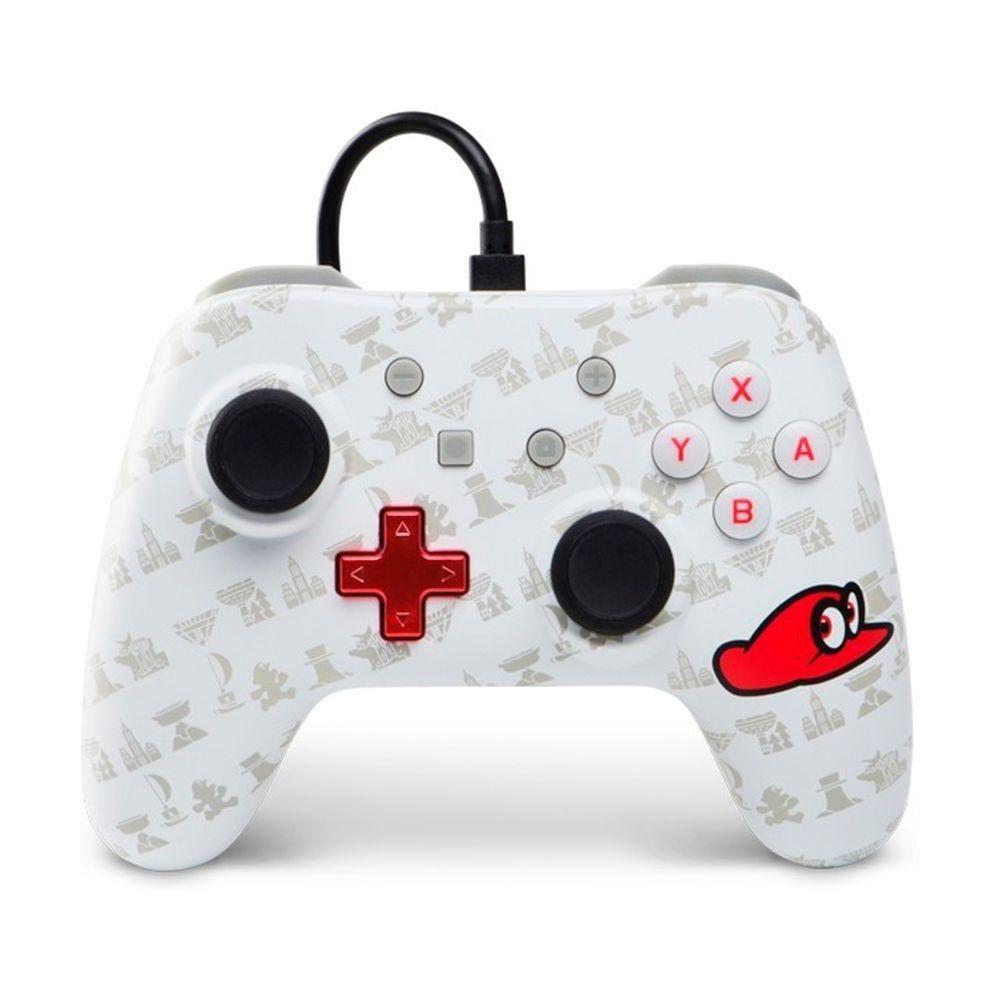 Controle Nintendo Switch com fio Super Mario Odyssey Branco