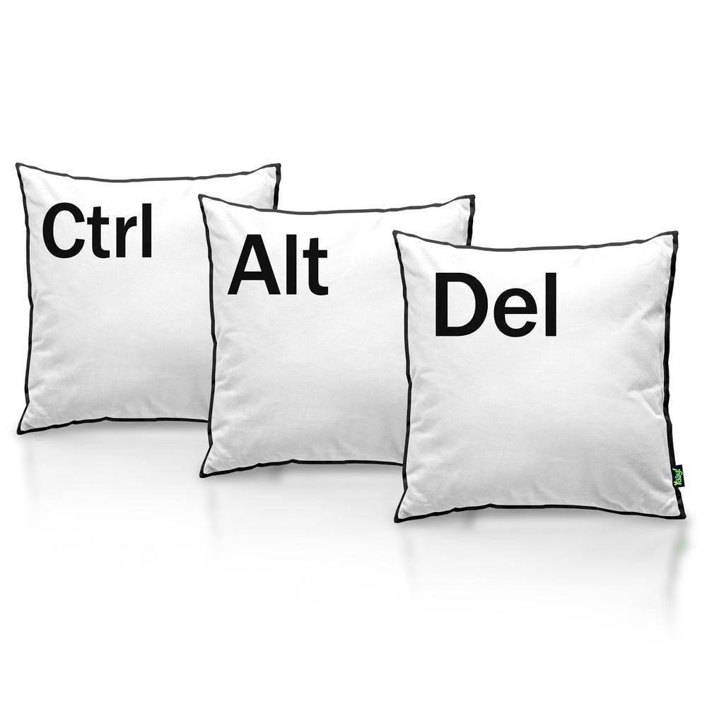 Kit Jogo Almofadas Ctrl + Alt + Del