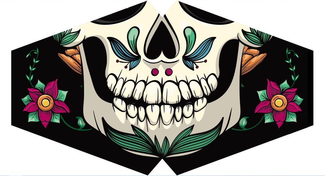 Máscara Caveira Mexicana F-04 - Tamanho M