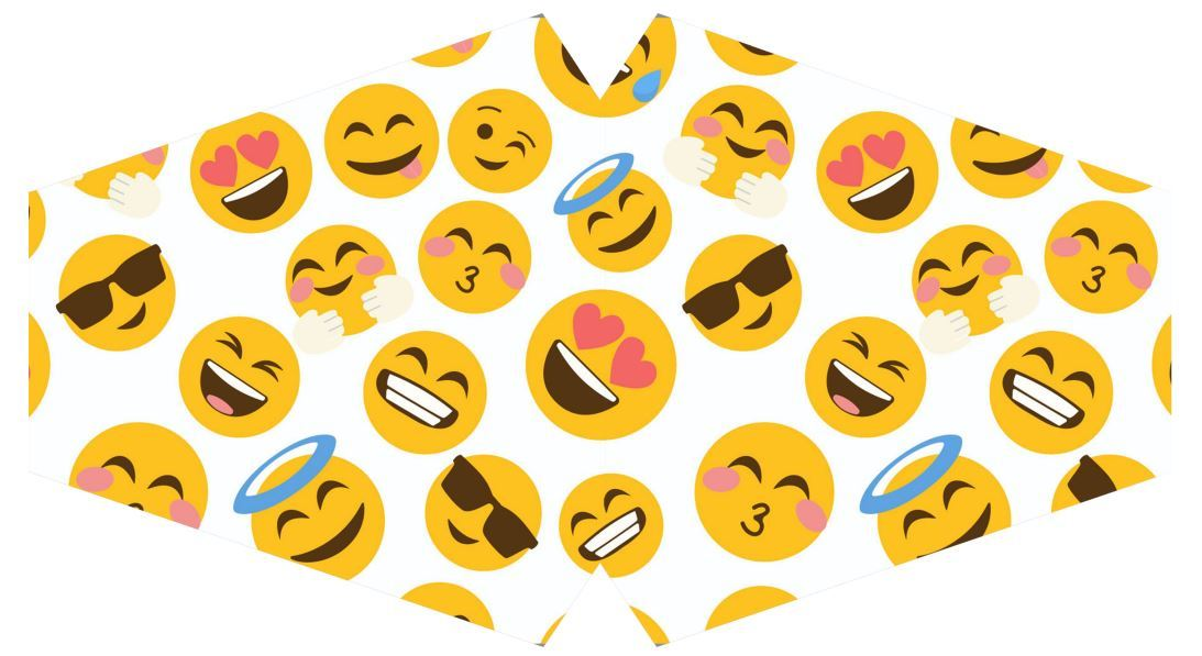 Máscara Emoji F-05 - Tamanho M