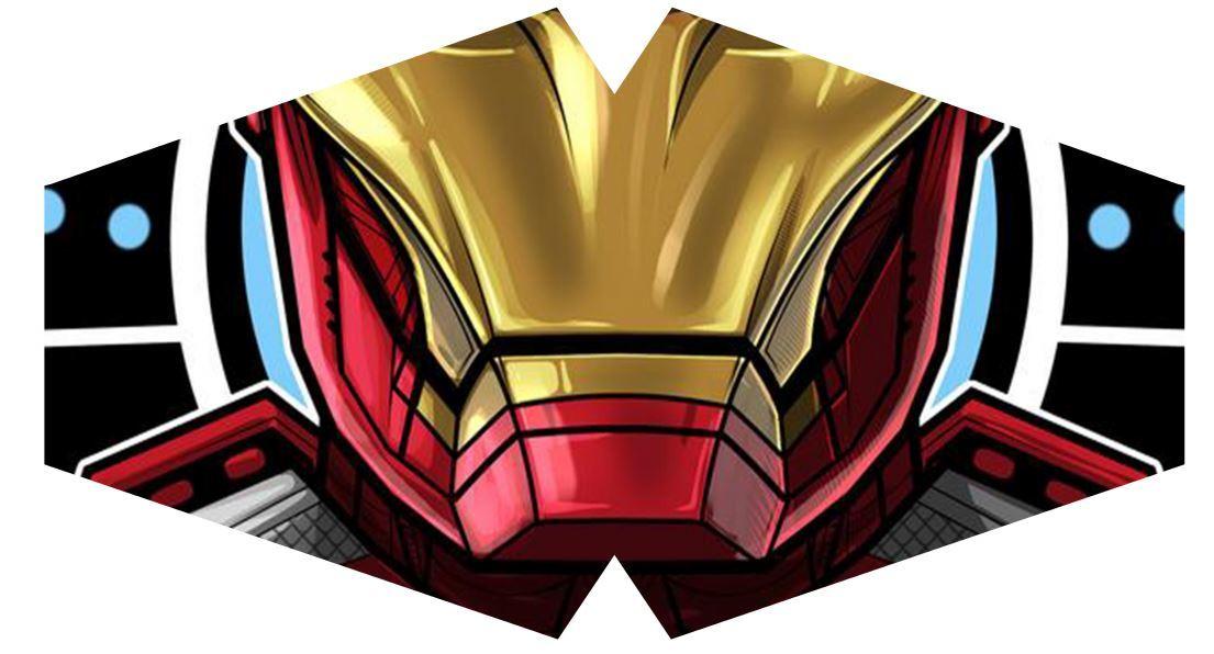 Máscara Iron Man M-04 - Tamanho G