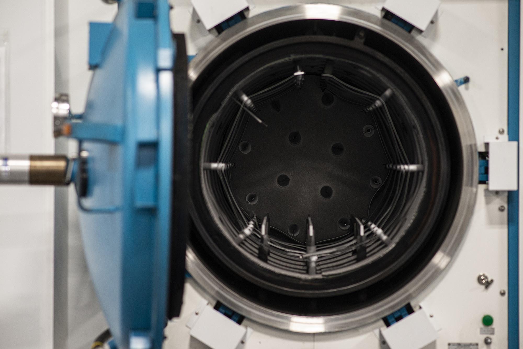 Interior of Vacu Braze machinery