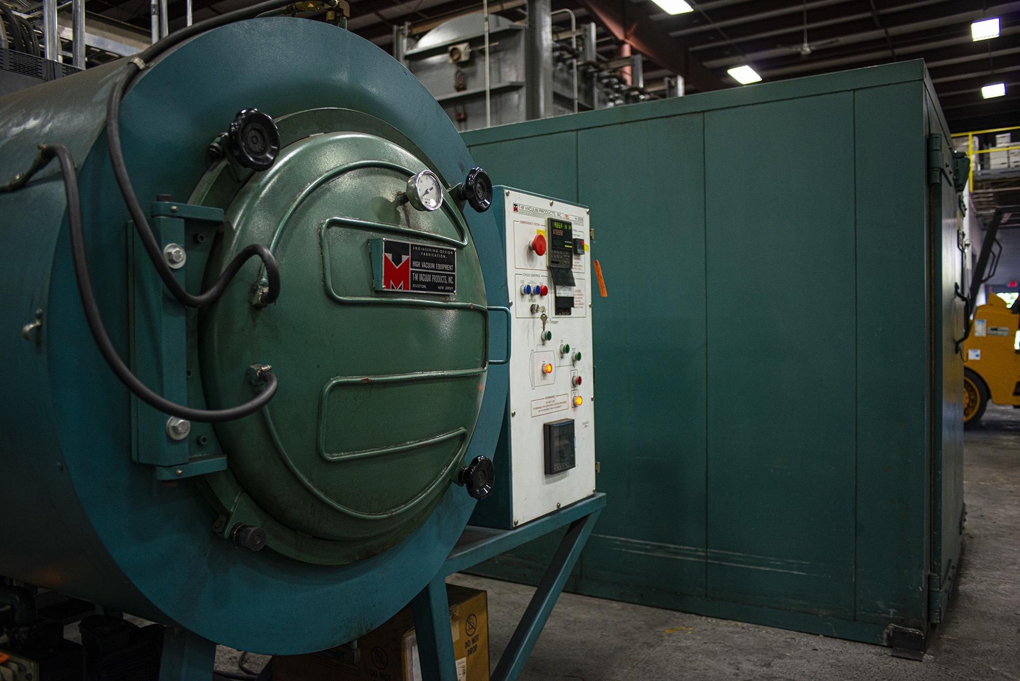 Close up of furnace doors