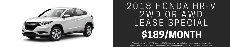 2018 Honda HR-V Lease Special