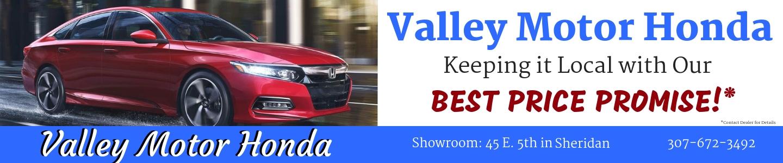 Valley Motor Honda's Best Price Promise!