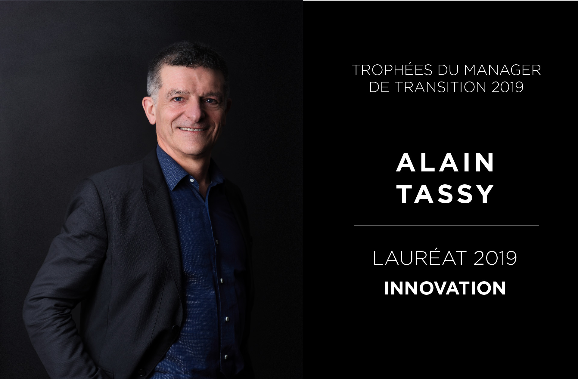 Portrait Alain Tassy - Trophées du Manager de Transition 2019 - Valtus Management de transition