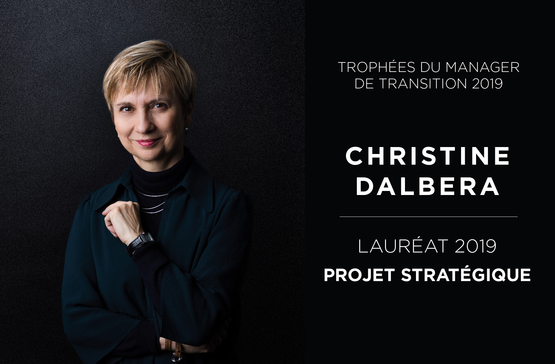Portrait Christine Dalbera - Trophées du Manager de Transition 2019 - Valtus Management de transition