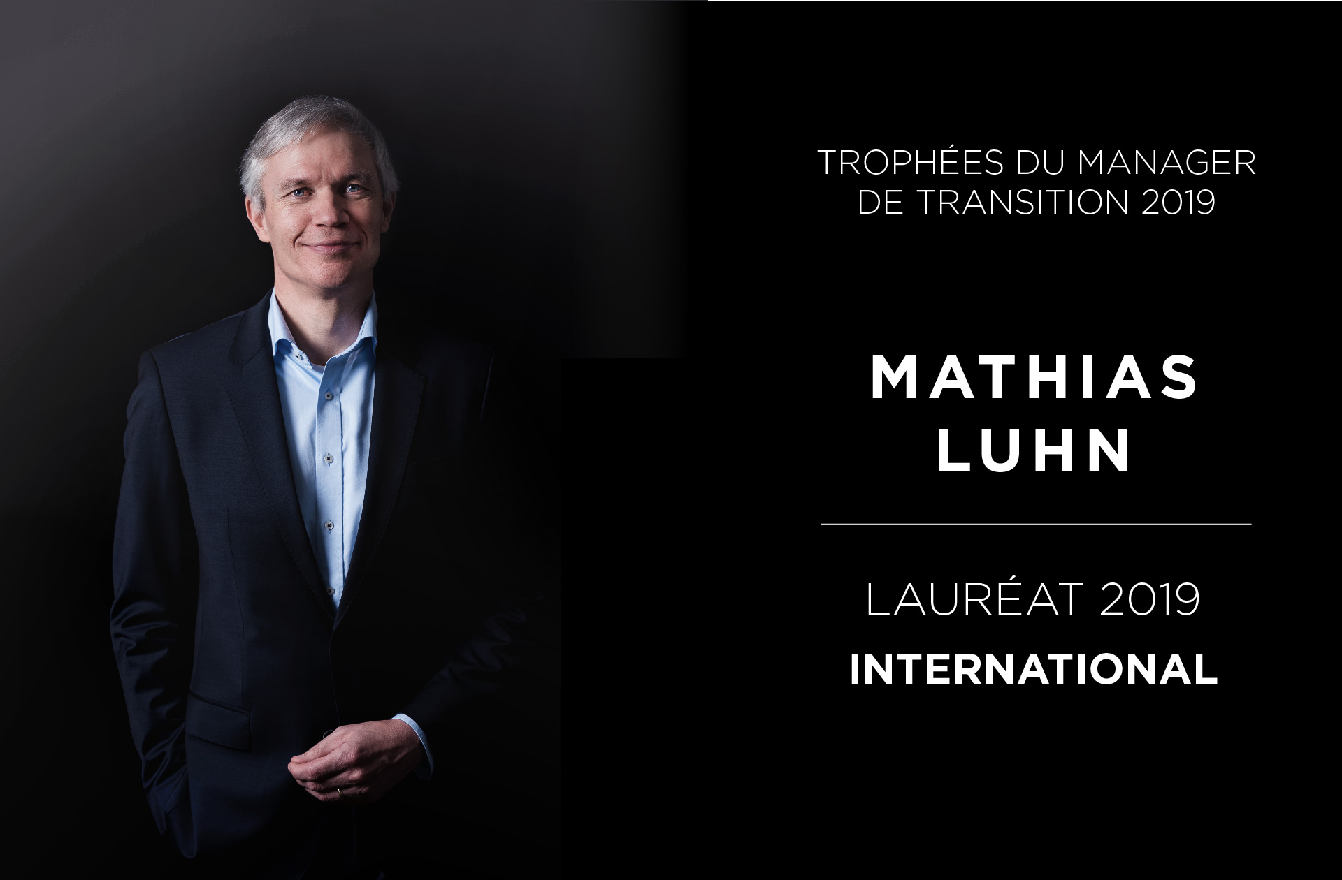 Portrait Mathias Luhn - Trophées du Manager de Transition 2019 - Valtus Management de transition