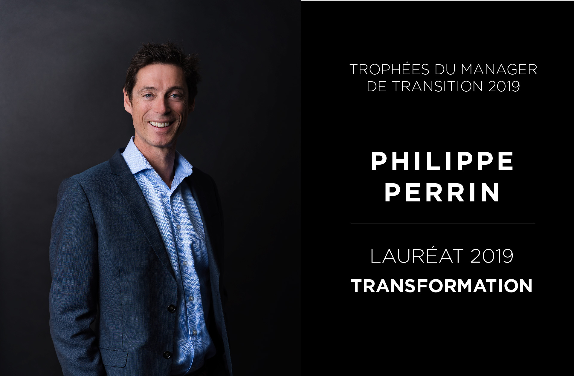 Portrait Philippe Perrin - Trophées du Manager de Transition 2019 - Valtus Management de transition