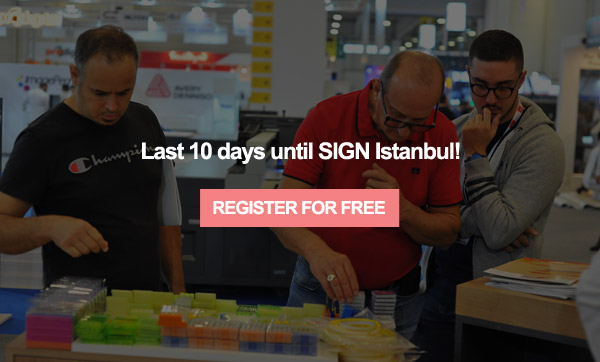 SIGN Istanbul is at Tuyap between 9-12 September!