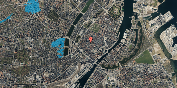 Oversvømmelsesrisiko fra vandløb på Skoubogade 4, 3. , 1158 København K