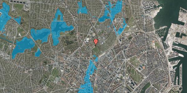 Oversvømmelsesrisiko fra vandløb på Bispebjerg Bakke 23, st. , 2400 København NV