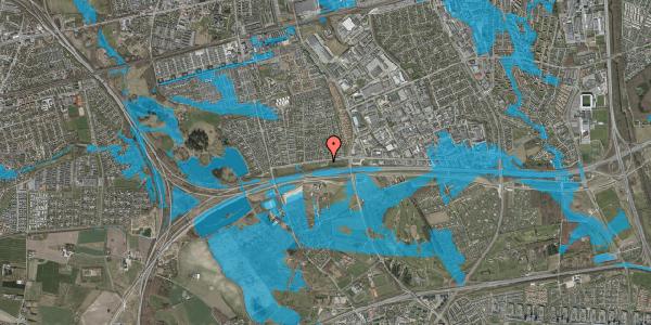 Oversvømmelsesrisiko fra vandløb på Vallensbækvej 77, 2625 Vallensbæk