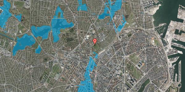 Oversvømmelsesrisiko fra vandløb på Bispebjerg Bakke 10, 2400 København NV
