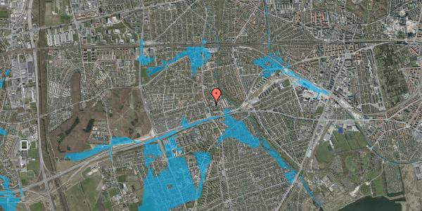 Oversvømmelsesrisiko fra vandløb på Baunebakkevej 8, 2650 Hvidovre