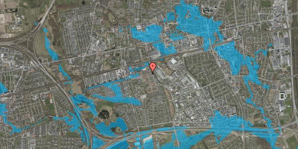 Oversvømmelsesrisiko fra vandløb på Bjergkløvervænget 23, 2625 Vallensbæk