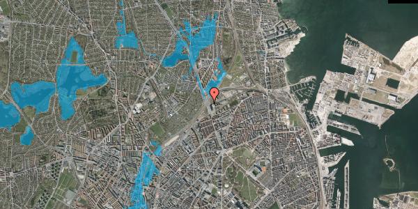 Oversvømmelsesrisiko fra vandløb på Lyngbyvej 98, 2100 København Ø
