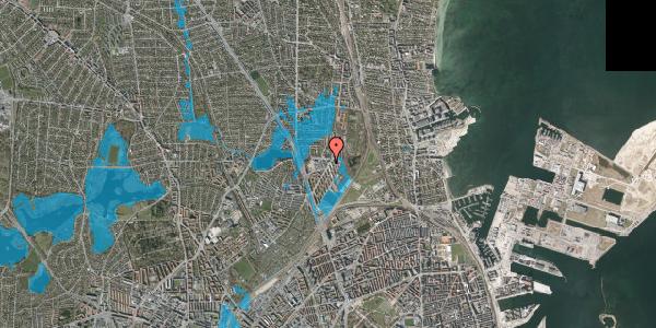 Oversvømmelsesrisiko fra vandløb på Ryparken 79, 2100 København Ø