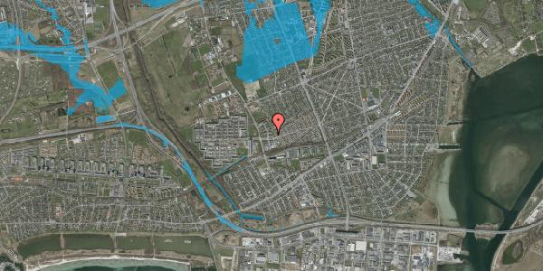 Oversvømmelsesrisiko fra vandløb på Mellemvangsvej 16, 2650 Hvidovre