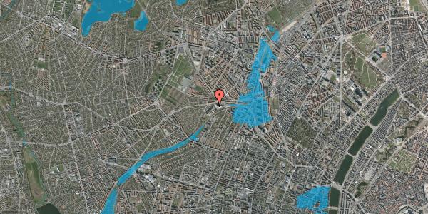 Oversvømmelsesrisiko fra vandløb på Rabarbervej 2, st. 8, 2400 København NV