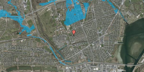 Oversvømmelsesrisiko fra vandløb på Mellemvangsvej 110, 1. tv, 2650 Hvidovre