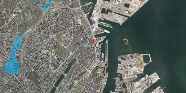 Oversvømmelsesrisiko fra vandløb på Østbanegade 89, 1. , 2100 København Ø
