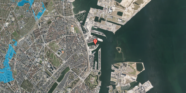 Oversvømmelsesrisiko fra vandløb på Marmorvej 39, 3. tv, 2100 København Ø