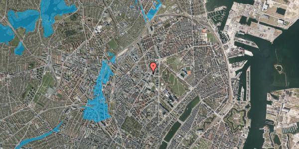 Oversvømmelsesrisiko fra vandløb på Sifs Plads 2, 2100 København Ø