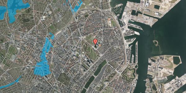 Oversvømmelsesrisiko fra vandløb på Øster Allé 56, 2100 København Ø