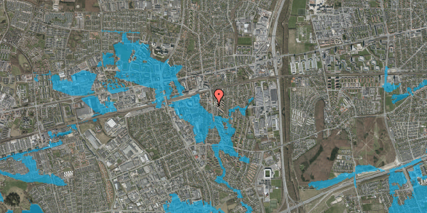 Oversvømmelsesrisiko fra vandløb på Glostrup Shoppingcenter 2A, 2600 Glostrup