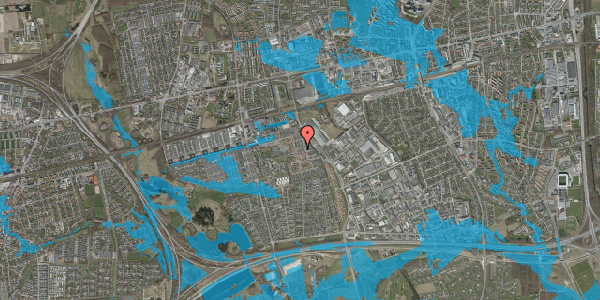 Oversvømmelsesrisiko fra vandløb på Grønkløvervænget 57, 2625 Vallensbæk