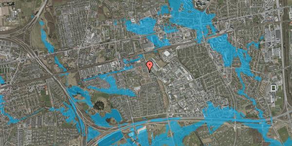 Oversvømmelsesrisiko fra vandløb på Grønkløvervænget 53, 2625 Vallensbæk